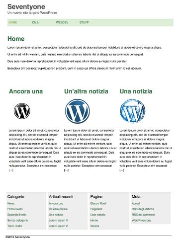 La home page | Guida ai temi di Wordpress, CMS | HTML.it