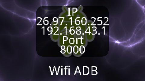 L'interfaccia di ADB over Wifi Widget