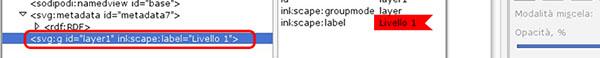 Correlazione tra XML e livelli