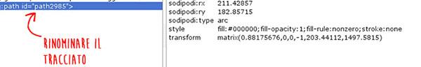 Rinominare l'oggetto dal pannello XML