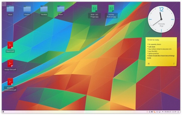 Il desktop di Kubuntu 15.10