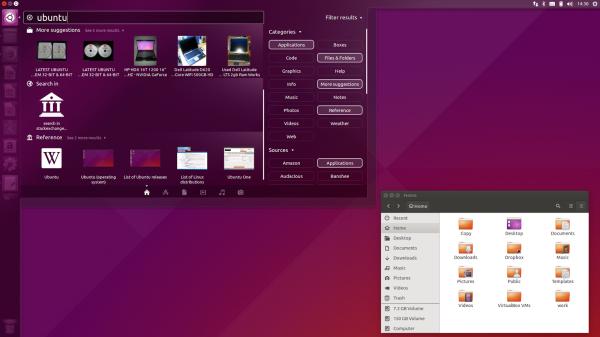 Il desktop di Ubuntu 15.10