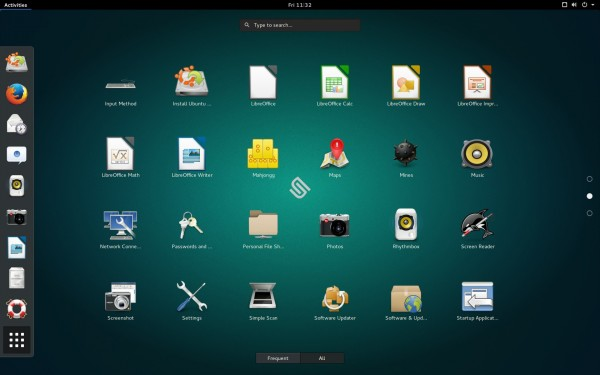 L'interfaccia di GNOME 3.16 su Ubuntu GNOME 15.10