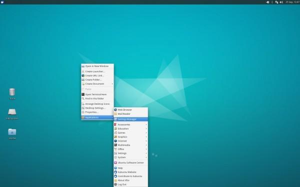 Il desktop di Xubuntu 15.10