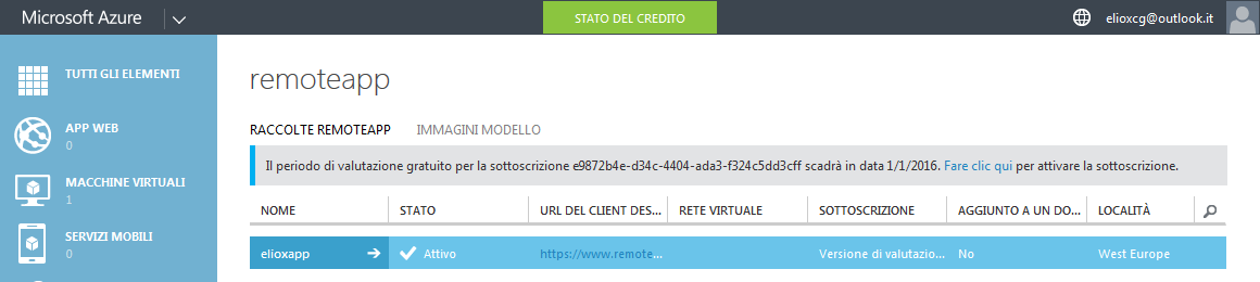 Raccolta RemoteApp