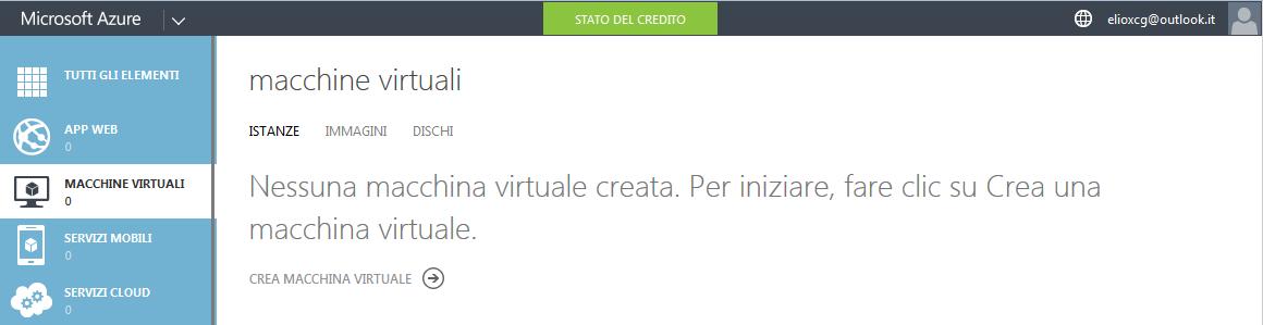 Interfaccia per la creazione della macchine virtuali