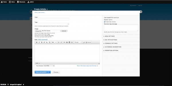 L'interfaccia di CkEditor su Drupal 8