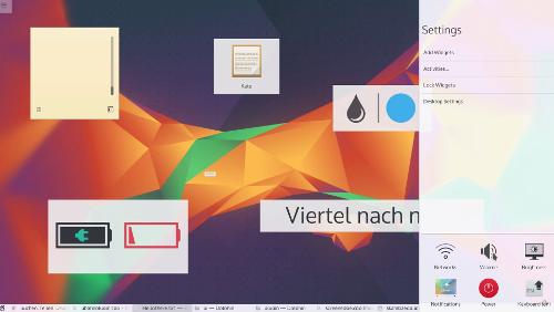 U-Bahn: UI KDE Metro style