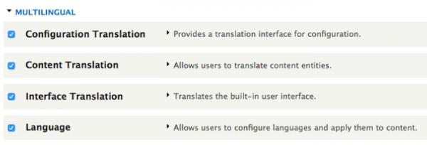 Supporto al multilingua migliorato su Drupal 8
