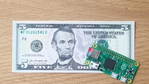 Raspberry Pi Zero a soli 5 dollari