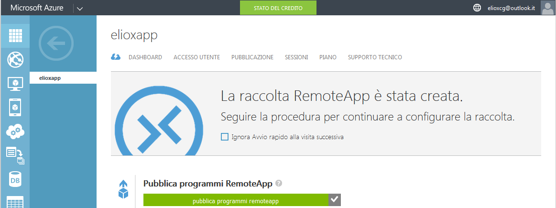 Pubblicazione dei programmi in RemoteApp