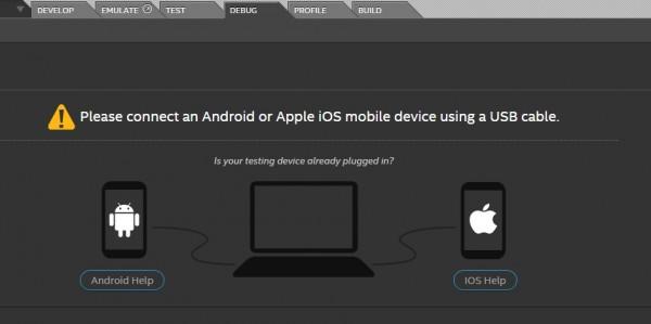Provare l'app sul dispositivo reale