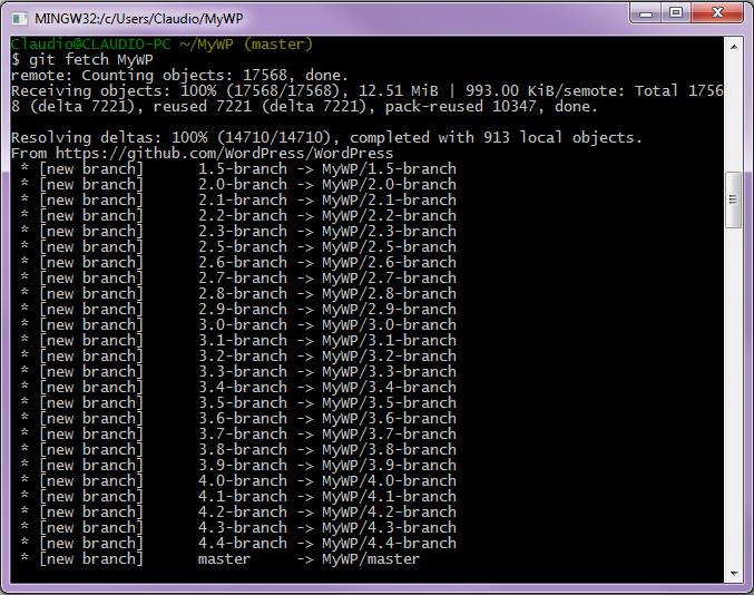Caricamento dati dal repository remoto
