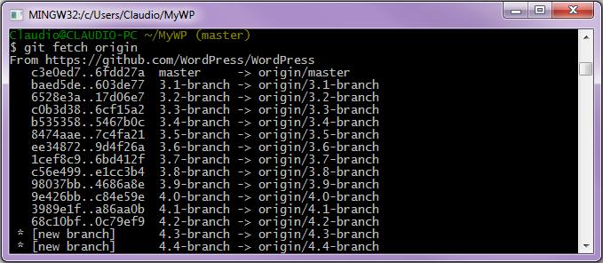 Caricamento delle modifiche condivise dal server remoto
