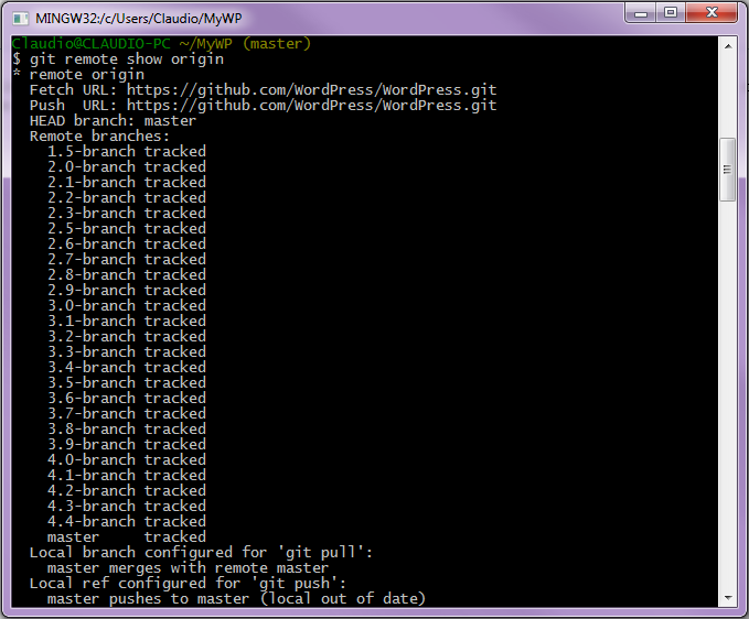 Visualizzare informazioni sul server remoto