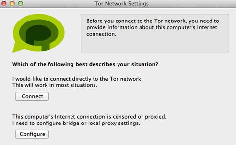 Primo avvio di Tor Messenger