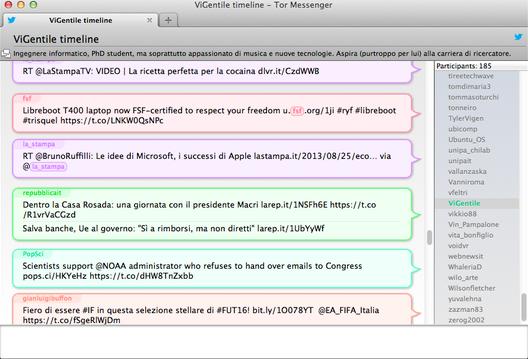 Le funzionalità di messaggistica su Tor Messenger