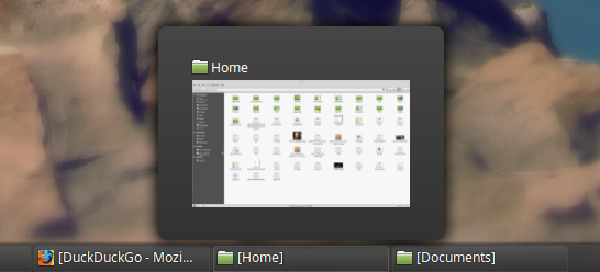 L'anteprima delle finestre è ora visualizzabile al passaggio del mouse
