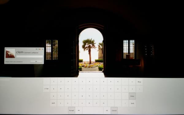 La schermata di login su Linux Mint 17.3