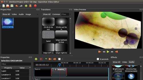 OpenShot 2.1 con supporto per le animazioni