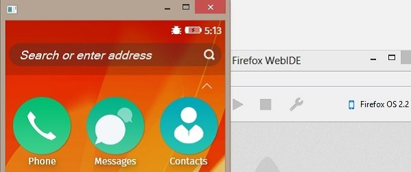 L'interfaccia di WebIDE su Firefox Developer Edition