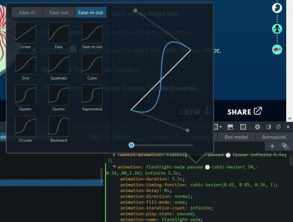 Personalizzazione delle curve di animazione