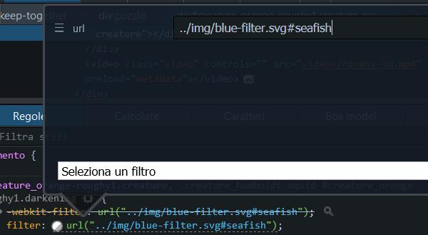 Personalizzazione dei filtri CSS