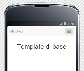 Menu come appare in un Nexus 4