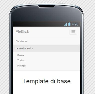 Apertura del menu in un Nexus 4