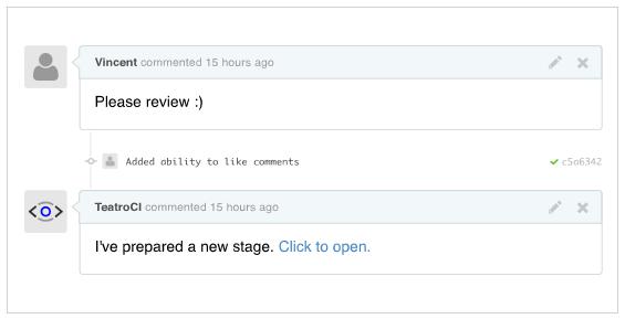 Teatro: creazione automatica di ambienti QA per GitHub