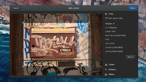 GNOME Photos 3.20 con filtri in stile Instagram