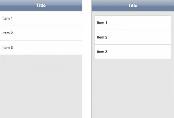 Le liste in App Framework