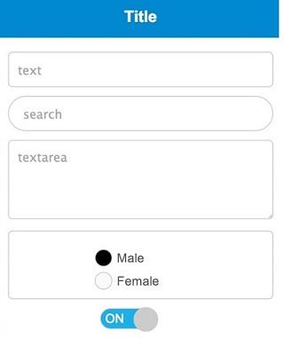 Elementi form in App Framework
