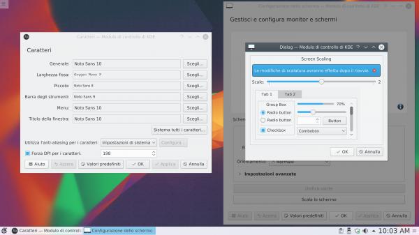 Impostazione HiDPI per KDE plasma 5