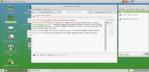 Sonar 2016.03, accessibilità su Manjaro Linux
