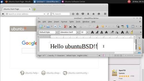 ubuntuBSD, un po' Ubuntu e un po' FreeBSD