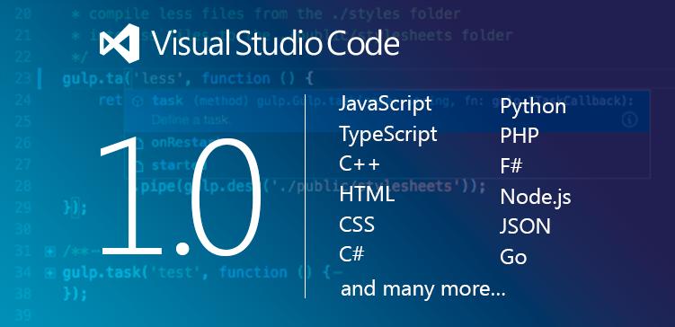 Visual Studio Code 1.0, anche per OS X e Linux