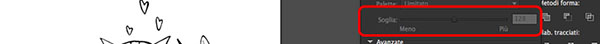 Aumento della soglia di pixel
