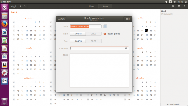 La nuova applicazione Calendario
