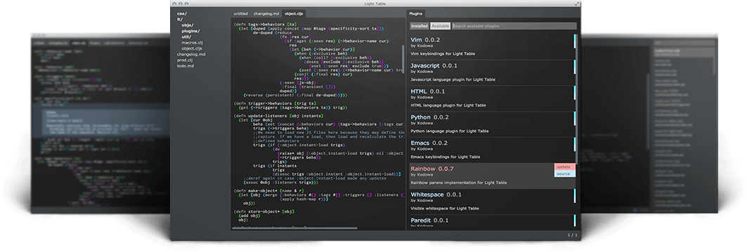 Light Table IDE: code editor per l'inline evaluation