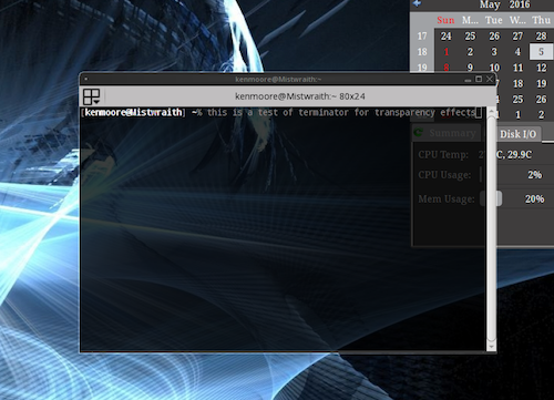 Lumina Desktop 0.9 con supporto ai compositing manager