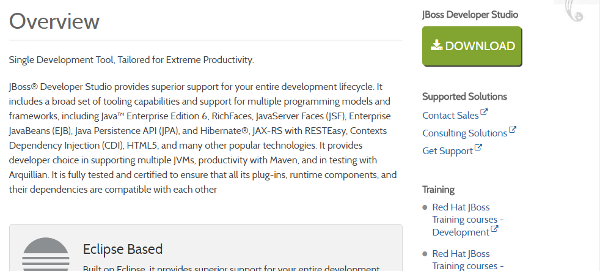 JBoss Developer Studio 9.1.0 download