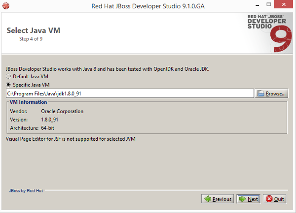 Installazione JBoss Developer Studio 9.1.0