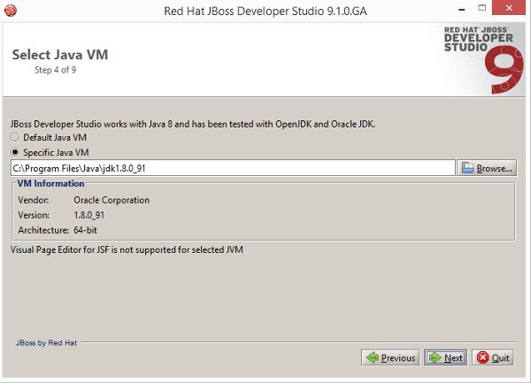 Installazione JBoss Developer Studio 9.1.0