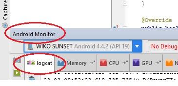 Logcat su Android Studio
