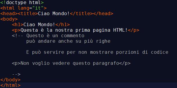 Commenti In Html Cosa Sono E Come Usarli Guida Htmlit