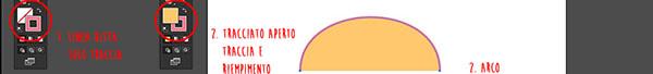 Colore applicato a linea retta e tracciato aperto