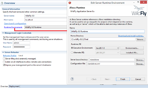 JBoss Developer Studio 9.1.0 Configurazione JBoss