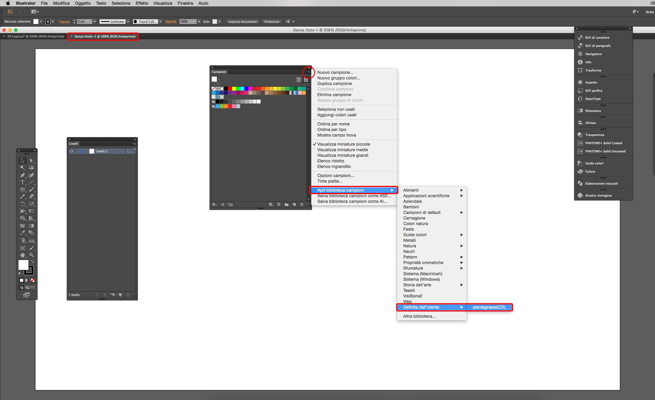illustrator cc salvare campioni di colore grafica html it  doc 11 campioni gratuiti.php #7