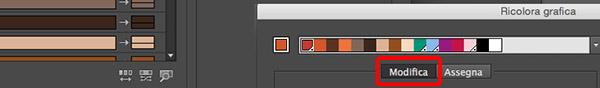 Modalità per visualizzare i colori correnti